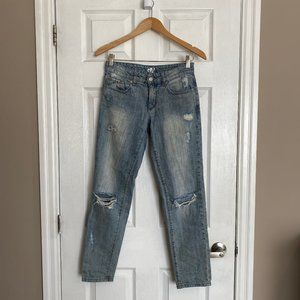 Garage Light Wash Distressed Boyfriend Jeans